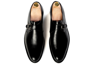 Grand Single Monkstrap - Black Noir - Marquina Shoemaker