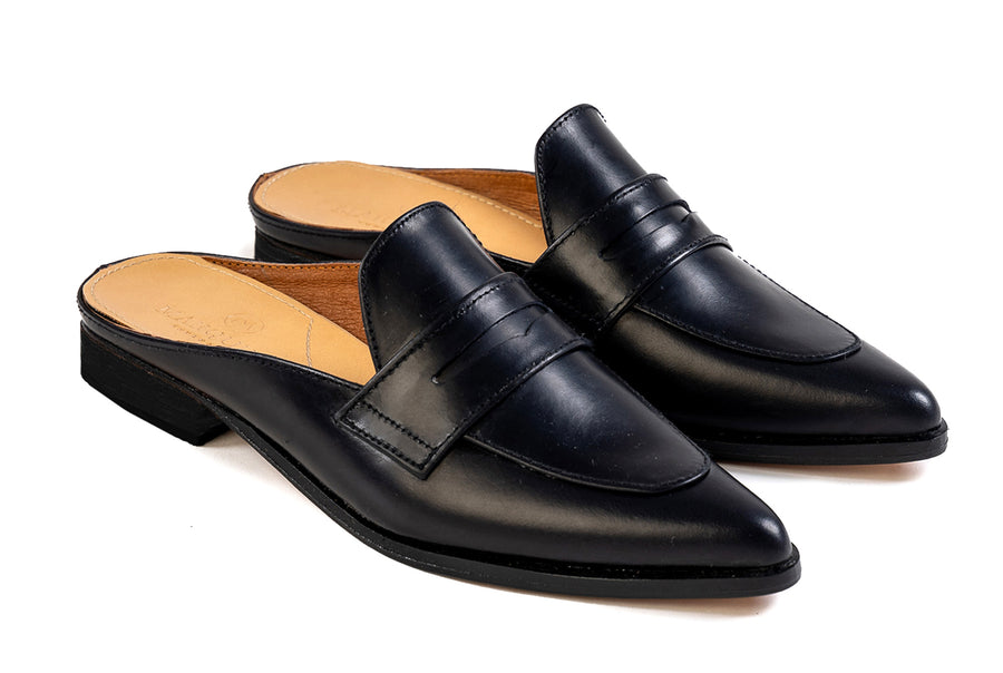 Posh Penny Loafer - Black Noir - Marquina Shoemaker