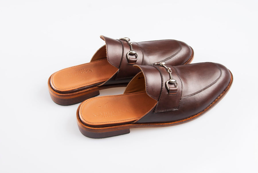 Buckled Lounge Loafers - Mahogany Brown