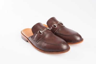 Buckled Lounge Loafers - Mahogany Brown - Marquina Shoemaker