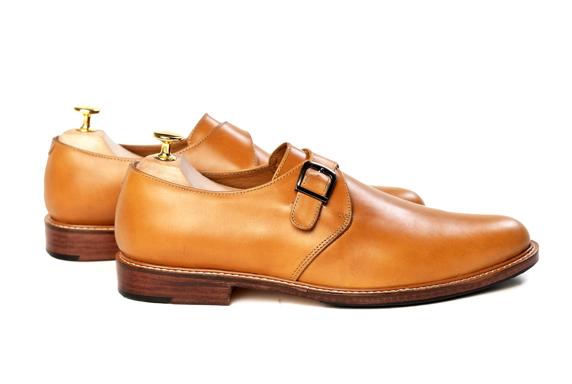 Grand Single Monkstrap - Cognac Tan - Marquina Shoemaker