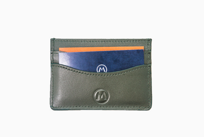 Full Grain Leather Card Holder - Emerald - Marquina Shoemaker