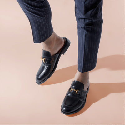 Buckled Lounge Loafers - Black Noir