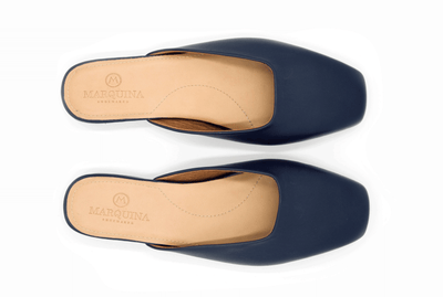 The Mod Flat - Navy Blue - Marquina Shoemaker