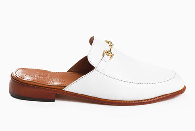 The new casual loafers for women - mule inspired white design from Marquina Shoemaker