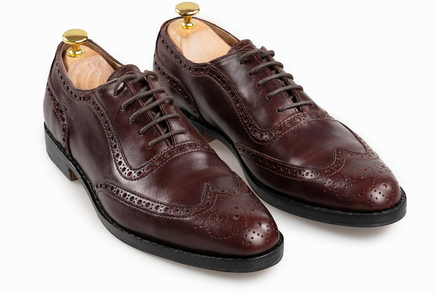 The Grand Wingtip Oxford - Oxblood Burgundy - Marquina Shoemaker
