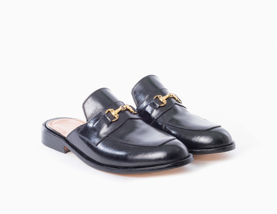 Buckled Lounge Loafers - Black Noir - Marquina Shoemaker