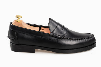 The Grand Penny Loafers - Black Noir - Marquina Shoemaker