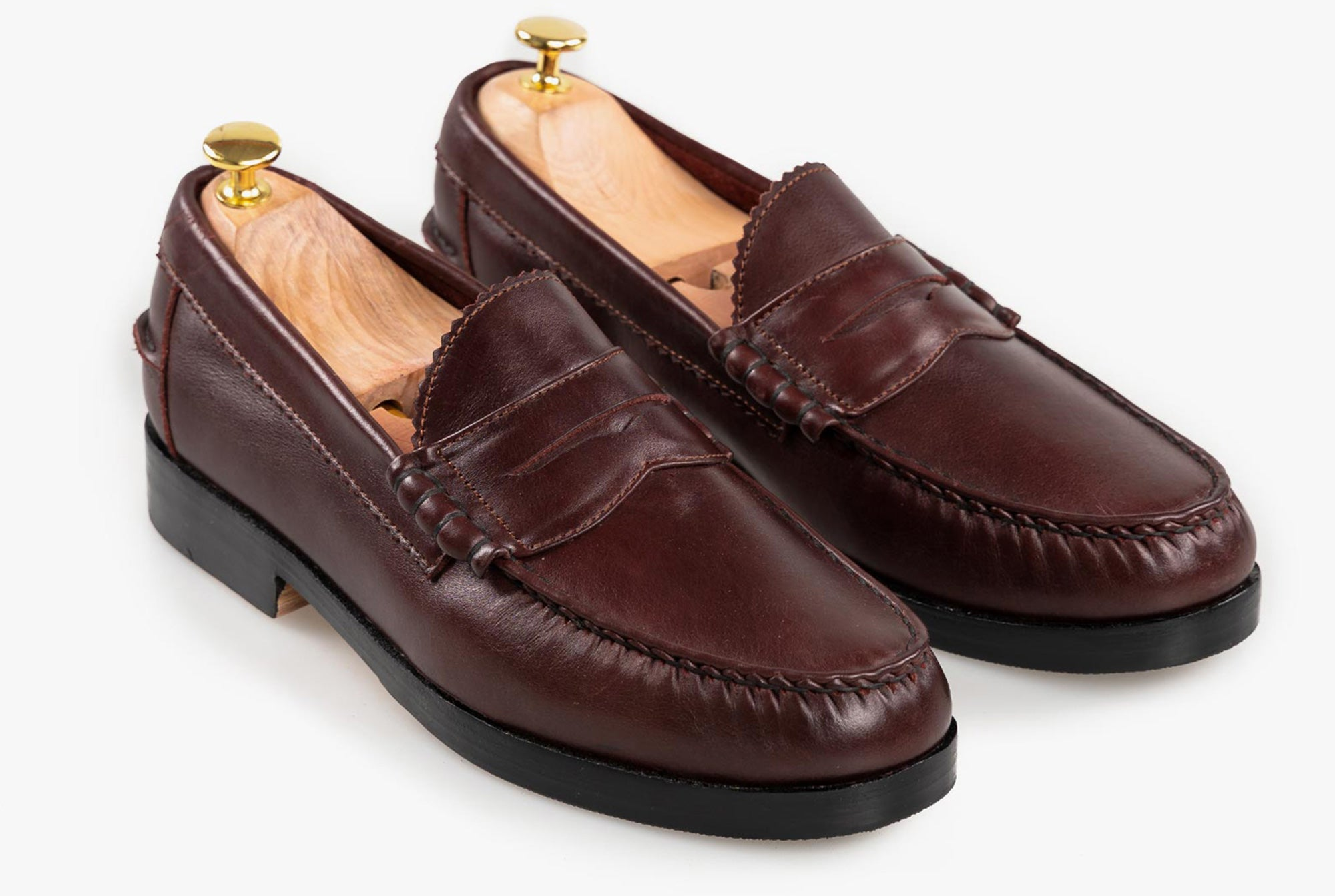 The Grand Penny Loafers - Oxblood Burgundy - Marquina Shoemaker