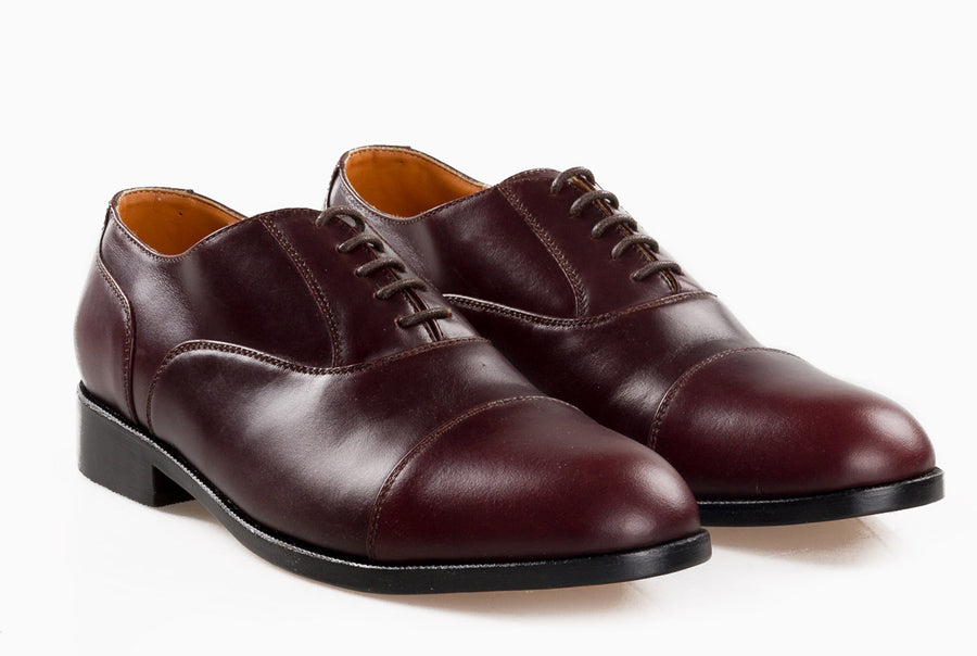 Garcia Captoe Oxford - Oxblood Burgundy - Marquina Shoemaker