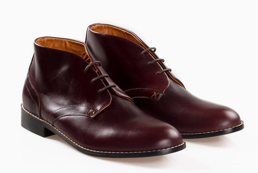 Gomez Chukka Boot - Oxblood Burgundy - Marquina Shoemaker
