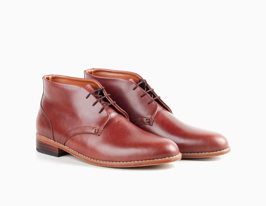 Gomez Chukka Boot - Chestnut Brown - Marquina Shoemaker