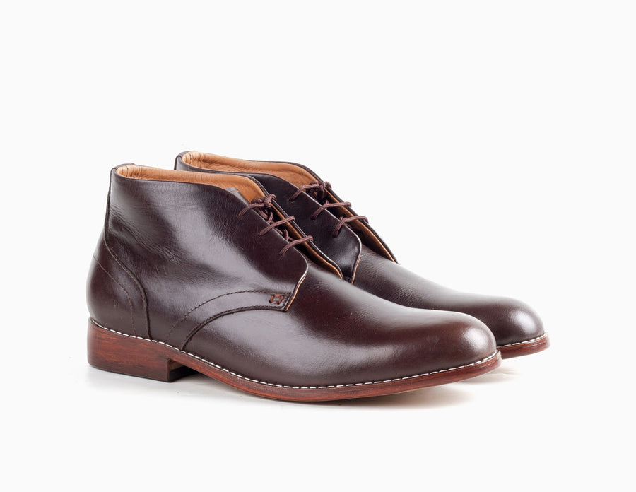 Gomez Chukka Boot - Mahogany Brown - Marquina Shoemaker
