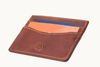 Marquina Full Grain Leather Card Holder - Country Brown Profile