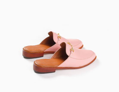 The new casual loafers for women - mule inspired pink design from Marquina Shoemaker