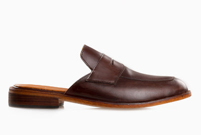 Penny Lounge Loafers - Mahogany Brown - Marquina Shoemaker