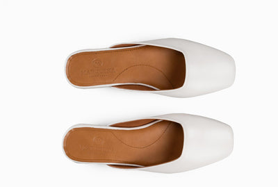 The Mod Flat - Ivory White - Marquina Shoemaker