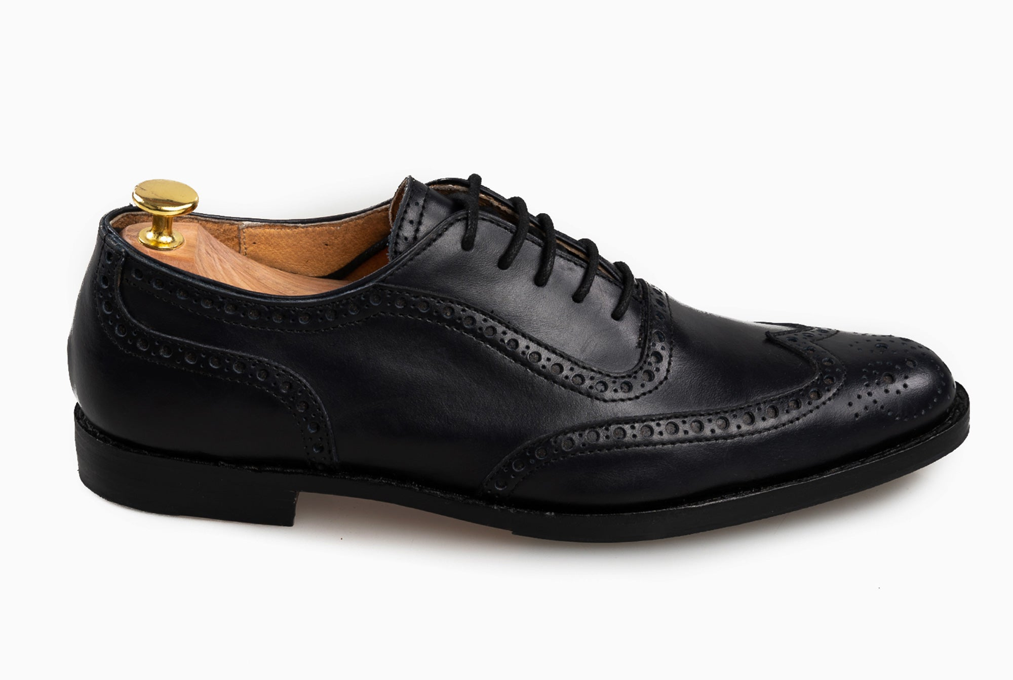 The Grand Wingtip Oxford -Black Noir - Marquina Shoemaker