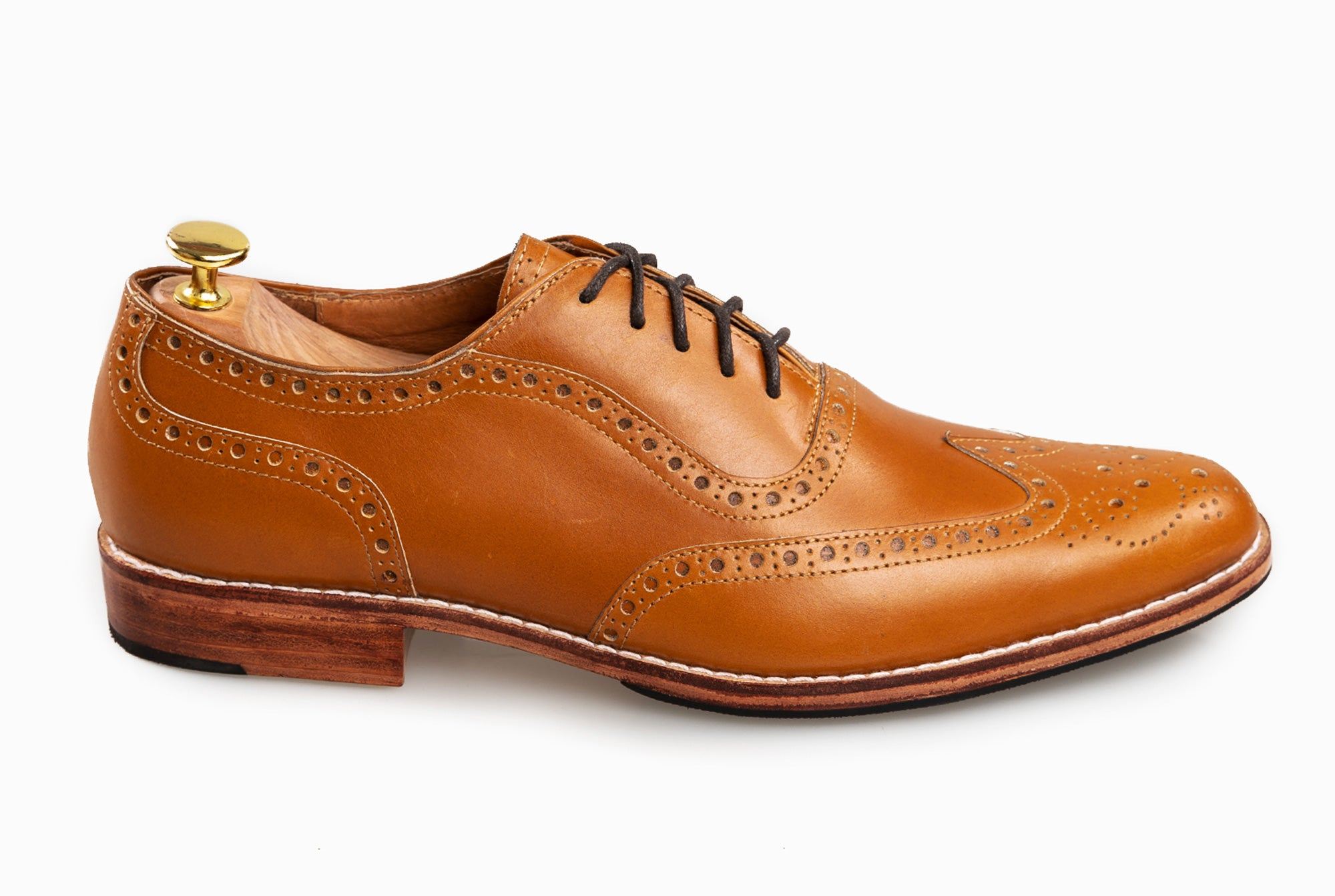 The Grand Wingtip Oxford - Cognac Tan - Marquina Shoemaker
