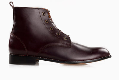 Ramos Lace Up Work Boot - Oxblood Burgundy - Marquina Shoemaker