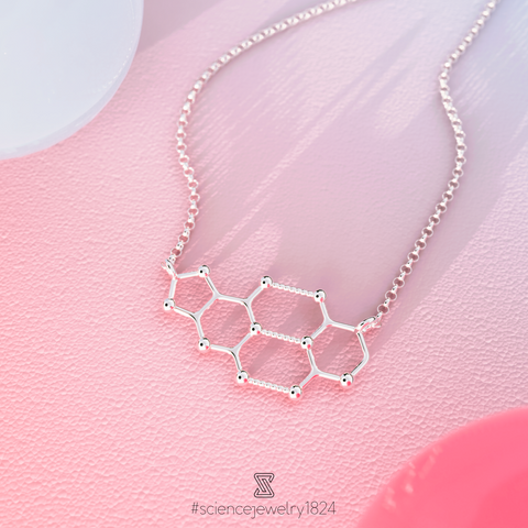 cytosine guanine necklace in sterling silver - science jewelry