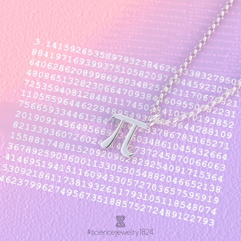 pi necklace in sterling silver - science jewelry