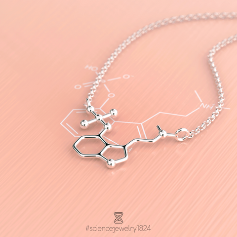 psilocybin necklace in sterling silver - science jewelry