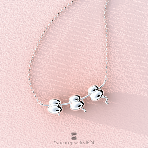 ribosome necklace in sterling silver