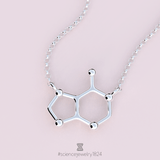 adenine necklace - science jewelry - nucleotide pendant