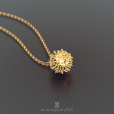 coronavirus necklace in 18K gold plated - science jewelry