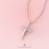 laminin necklace in sterling silver - science jewelry