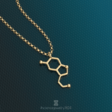 serotonin vertical - 18K gold plated