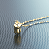 tooth - 18K gold plated