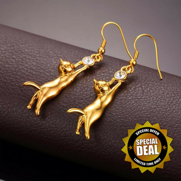 LIMITED EDITION - CUTE HIGH QUALITY CAT EARRINGS (FREE SHIPPING)
