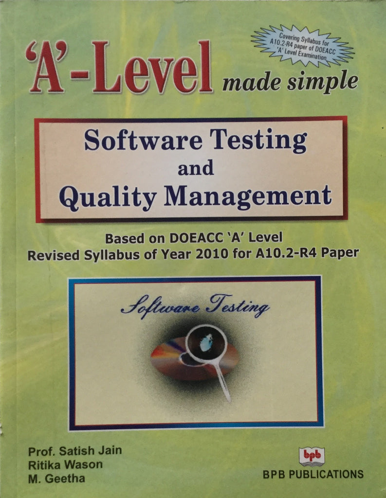 ''A' Level- Software Testing & Quality Management in English