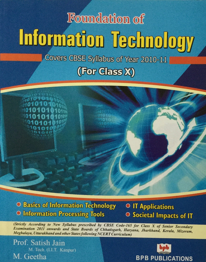Foundation Of Information Technology For Class X