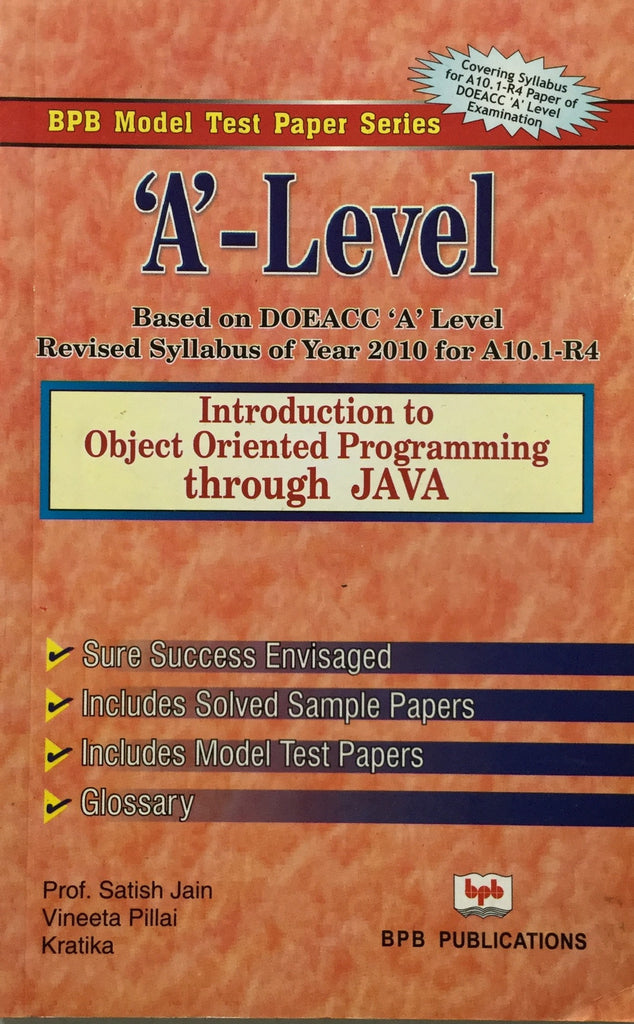 Introduction to object Oriented Programming through Java