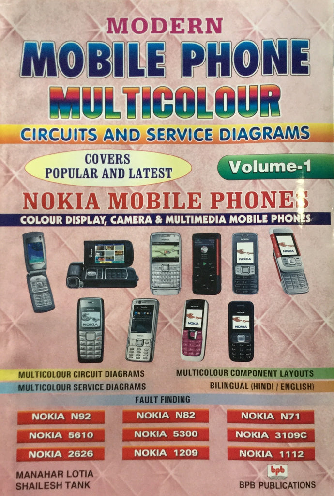 Modern Mobile Phone Multicolour Circuits and Service Diagrams