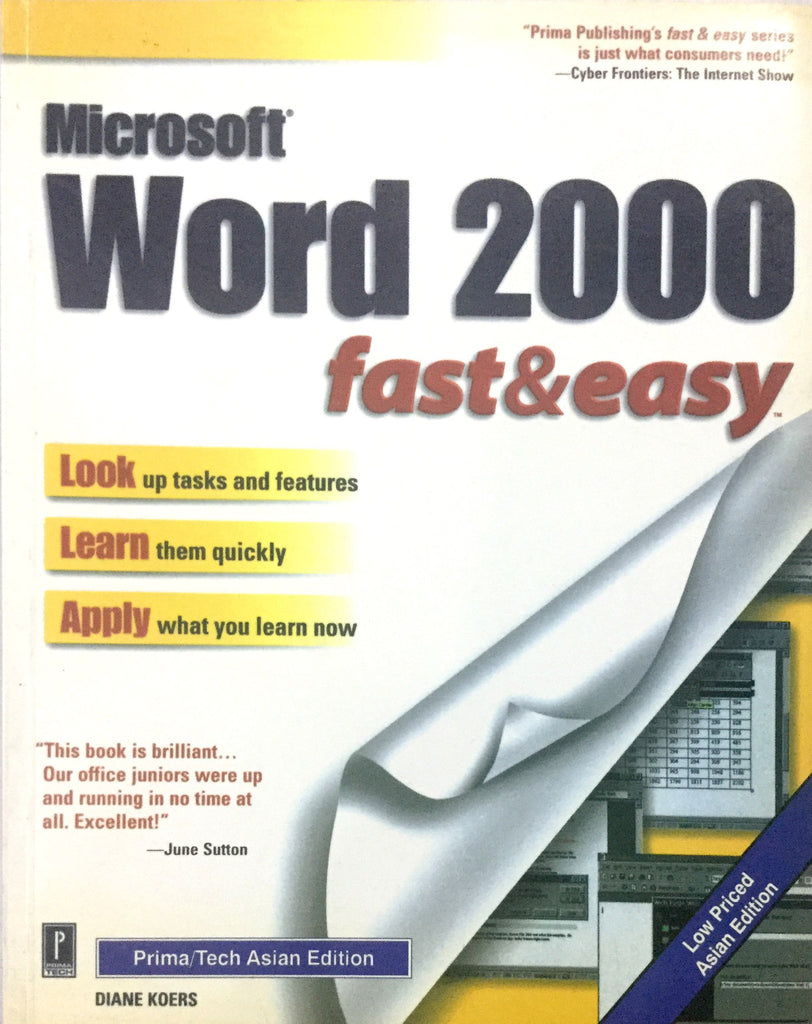 MS Word 2000 Fast and Easy