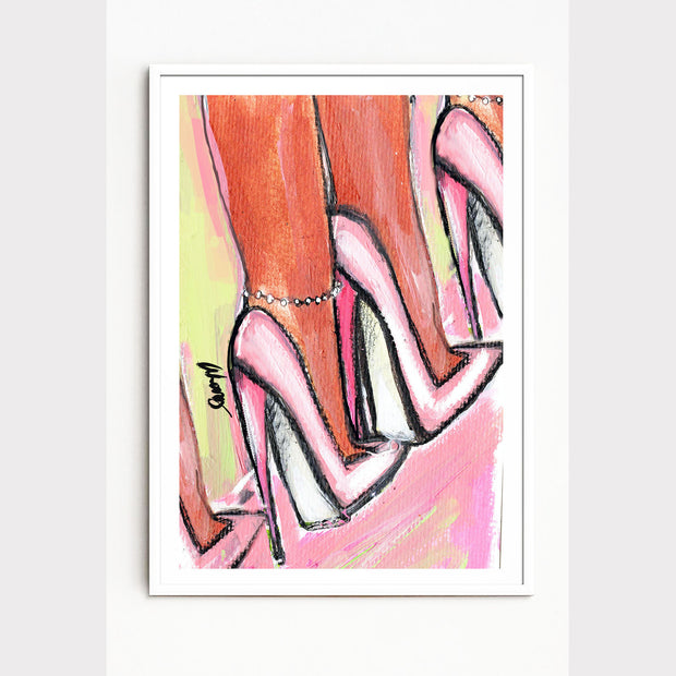 """THE HIGHER THE HEEL"" SIGNED GICLEE PRINT"