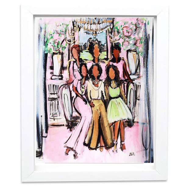 MARY SHY SCOTT ATLANTA CHAPTERS' TRIBUTE SIGNED PAINTING PRINT