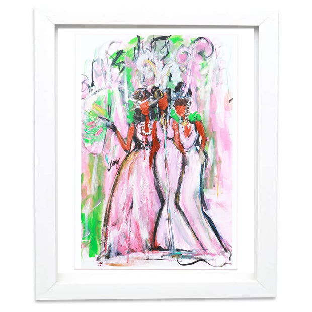 """Jazzy Belles""  SIGNED PAINTING PRINT"