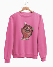 The Pinky Up Hand® Pullover Fleece Sweatshirt (Unisex Fit)