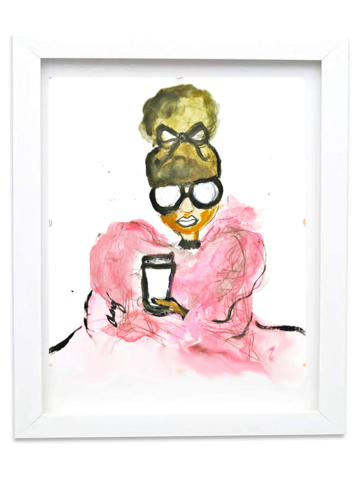 """HOLD MY TEA"" 2016 ARCHIVAL SIGNED GICLEE PRINT"