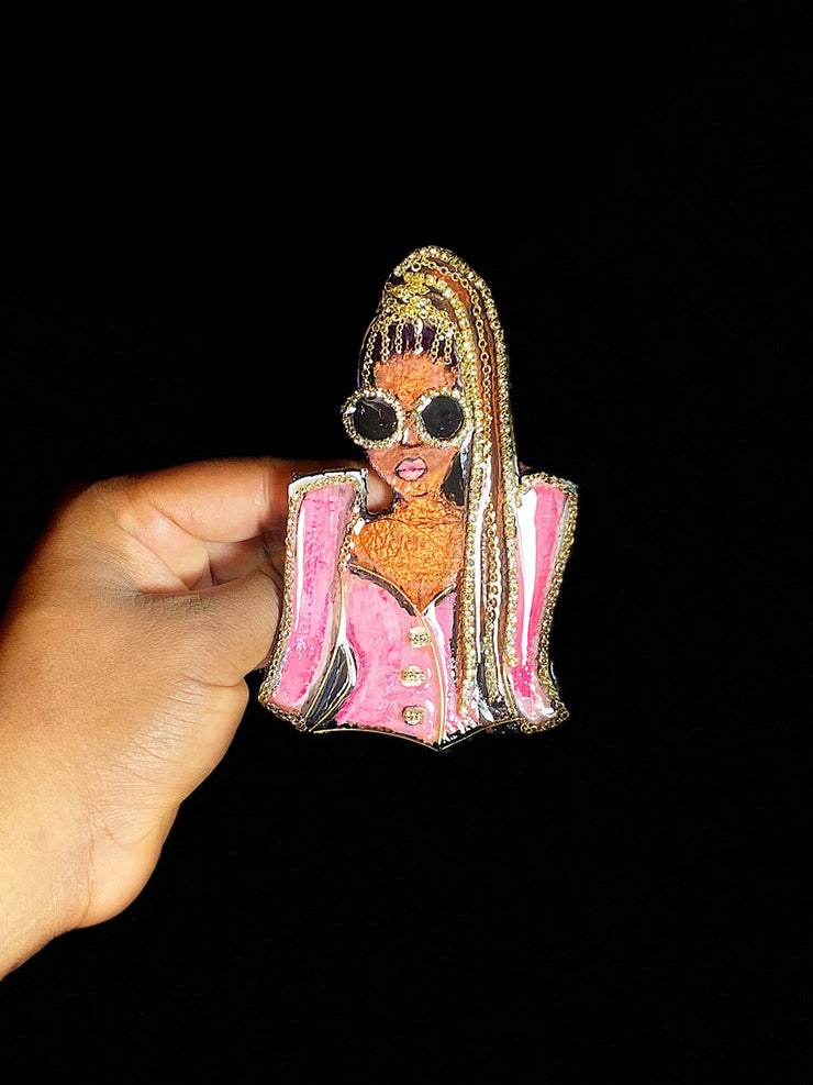 "Get Fab ""Belaire Rose"" Chic Brooch"