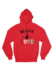Black Love Flock Fleece Hoodie (Unisex)