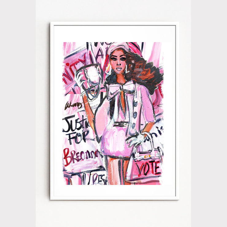 """REAL GIRLS VOTE"" SIGNED GICLEE PRINT"