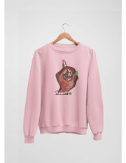 Pinky Up Hand® Painting Fleece Pullover BLUSH PINK