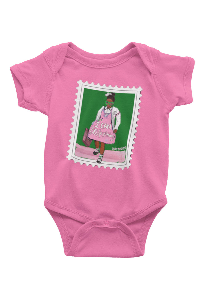 """I CAN DO ANYTHING"" RUBY BRIDGES ILLUSTRATION BABY ONESIE"