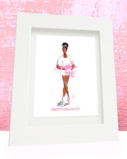 Pretty Girls & Co. Black  Ballerina Print